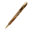 ART-PEN: Handcrafted Luxury Twist Pen - GRADUATE 24 Carats Gold Plated with Bethlehem Olivewood body