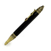 ART-PEN: Handcrafted Luxury Twist Pen - Deruta Perugino - Ant. Brass with Black body.