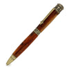 ART-PEN: Handcrafted Luxury Twist Pen - Faith Hope Love - Antique Pewter with Kirinite Copper Pearl body