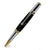 ART-PEN: Handcrafted Luxury Rollerball Pen - Milano - Antique Pewter with True Stone Black Gold body