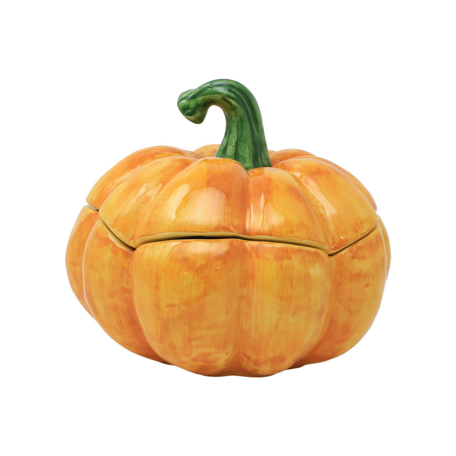 VIETRI: Pumpkins Figural Covered Medium Pumpkin