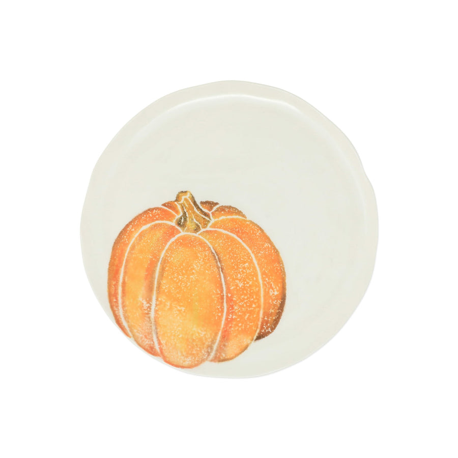 VIETRI: Pumpkins Salad Plate - Orange Small Pumpkin