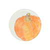 VIETRI: Pumpkins Salad Plate - Orange Medium Pumpkin