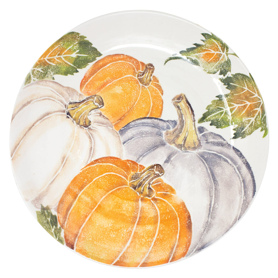 VIETRI: Pumpkins Large Serving Bowl w/ Assorted Pumpkins