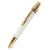 ART-PEN: Handcrafted Luxury Twist Pen - POLARIS 24 Kt Gold with Faux Ivory Acrylic body