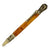ART-PEN: Handcrafted Luxury Twist Pen - Deruta Perugino - Ant. Brass with Marble Ant. Amber body.