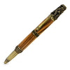 ART-PEN: Handcrafted Luxury Twist Pen - Ricco Deruta Design - Antique Brass with Exhibition Olive Wood body