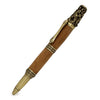 ART-PEN: Handcrafted Luxury Twist Pen - Ricco Deruta Design - Antique Brass with Olive Wood body