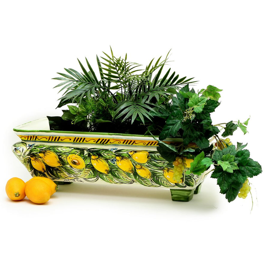 TUSCAN GARDEN: Rectangular Jardiniere on feet LIMONI POSITANO Design