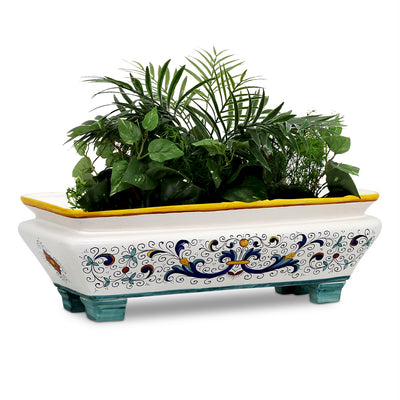 RICCO DERUTA: Rectangular Jardiniere Planter on feet