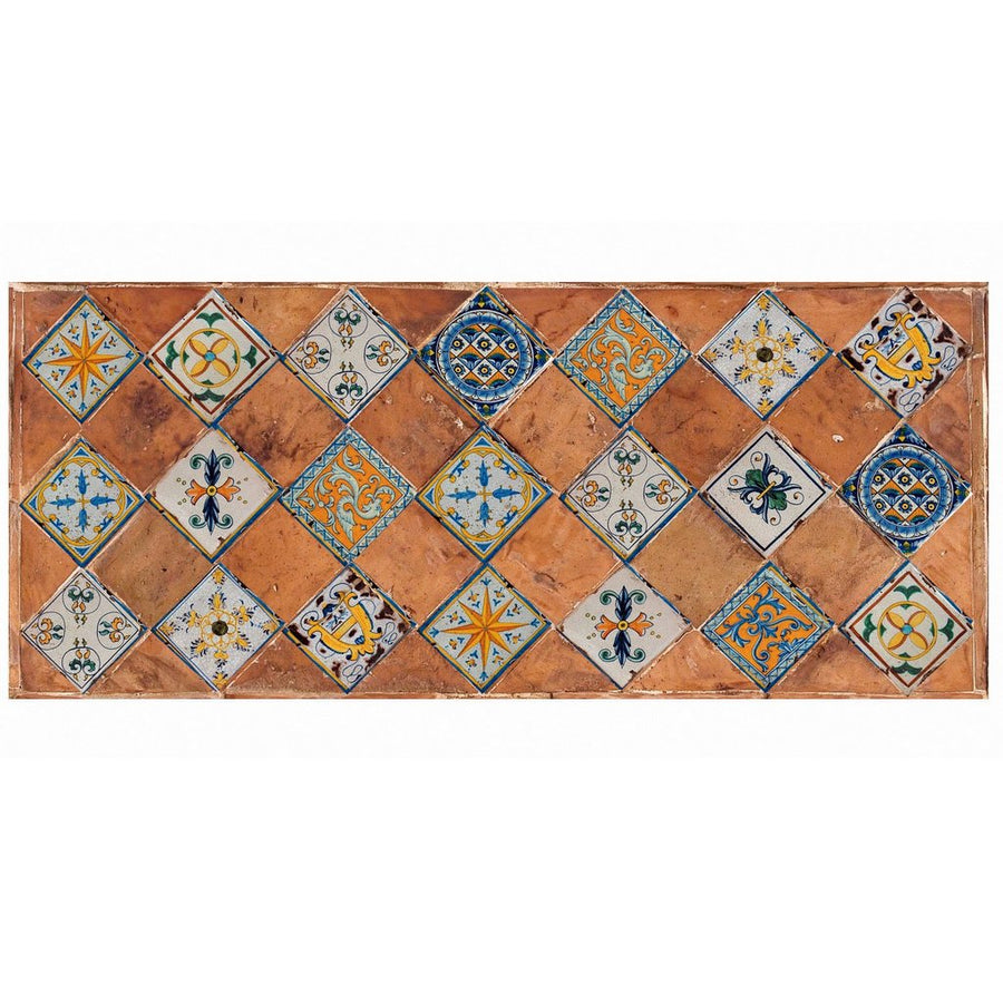 ANTICA DERUTA: WALL PANEL BACKSPLASH PATCHWORK TERRACOTTA