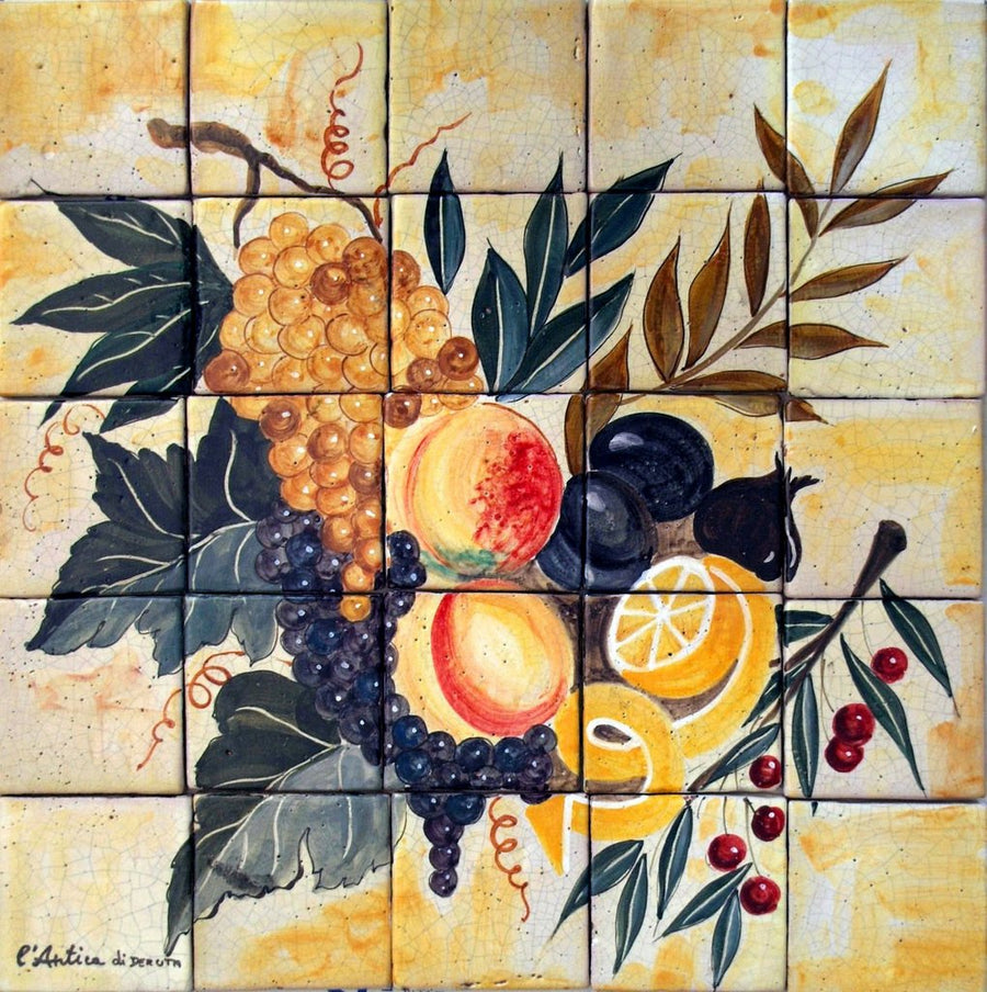 ANTICA DERUTA: WALL PANEL BACKSPLASH FRUTTA ANTICA
