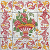ANTICA DERUTA: WALL PANEL BACKSPLASH RED FRUIT DESIGN