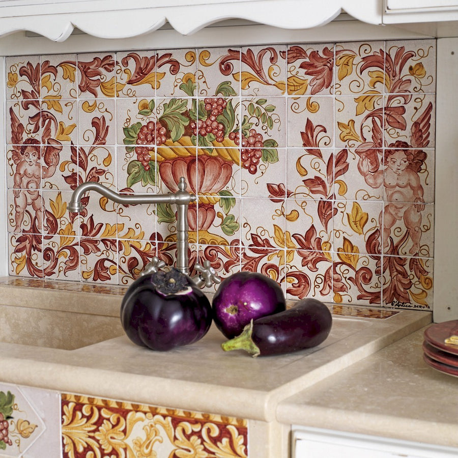 ANTICA DERUTA: WALL PANEL BACKSPLASH CENTRO DI FRUTTA