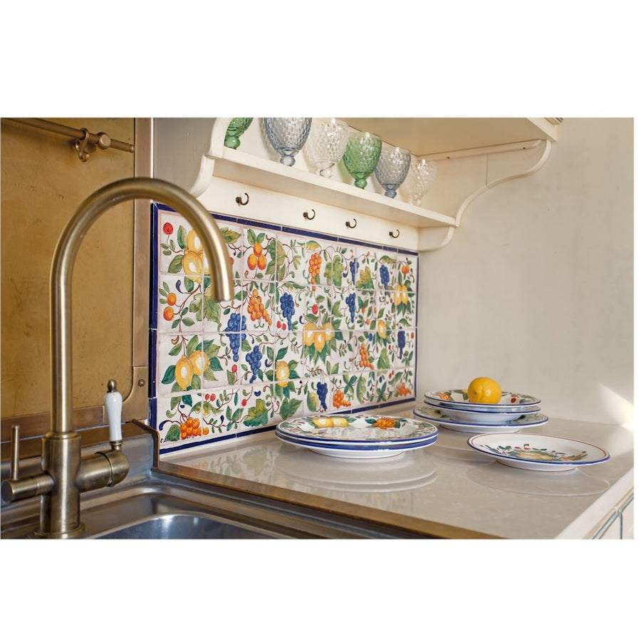 ANTICA DERUTA: WALL PANEL BACKSPLASH MEDITERRANEAN FRUITS