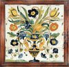 ANTICA DERUTA: Hand Painted Framed Cermic Tiles Panel - Still Life