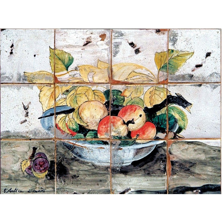 ANTICA DERUTA: WALL PANEL BACKSPLASH FANEL FRUTTA E CIOTOLA