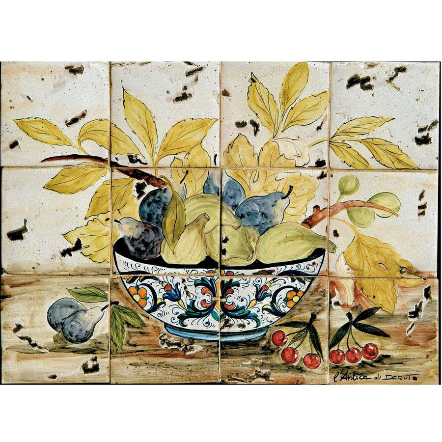 ANTICA DERUTA: WALL PANEL BACKSPLASH RICCO DERUTA BOWL