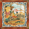 ANTICA DERUTA: Hand Painted Framed Cermic Tiles Panel - Season AUTUMN