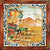 ANTICA DERUTA: Hand Painted Framed Cermic Tiles Panel - Season SUMMER