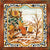 ANTICA DERUTA: Hand Painted Framed Cermic Tiles Panel - Season WINTER