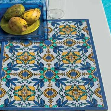 ITALIAN DREAM: Placemats + Coasters (Set of 4 ea) - Design POSITANO/H