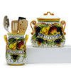 FRUTTA: Bundle with Biscotti Jar + Utensil Holder