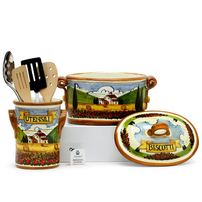 PAESAGGIO: Bundle with Utensil Holder + Biscotti Jar