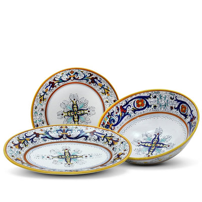 RICCO DERUTA DELUXE: Serving Set Charger + Salad Pasta Bowl + Oval Platter