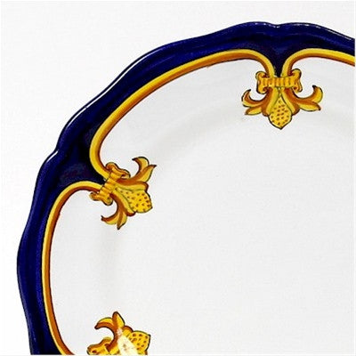 GIGLIO DORO Deruta Deluxe: 3 Pcs Pre Pack: Dinner Plate and Pasta Bowl and Salad Plate
