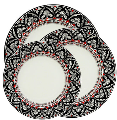 RINASCIMENTO Deruta Deluxe: 3 Pcs Pre Pack: Dinner Plate and Pasta Bowl and Salad Plate