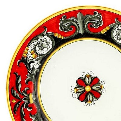 TIZIANO Deruta Deluxe: 3 Pcs Pre Pack: Dinner Plate and Pasta Bowl and Salad Plate