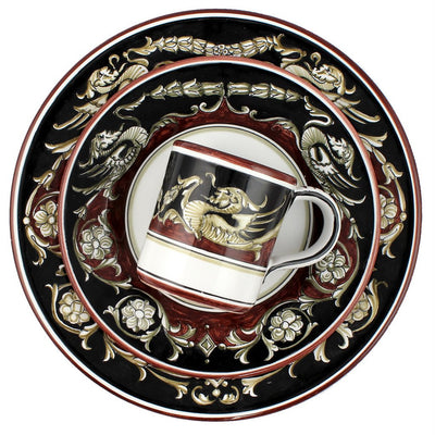 POMPEI Deruta Deluxe: 3 Pcs Pre Pack: Dinner Plate and Salad Plate and Mug