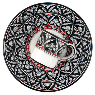 RINASCIMENTO Deruta Deluxe: 3 Pcs Pre Pack: Dinner Plate and Salad Plate and Mug