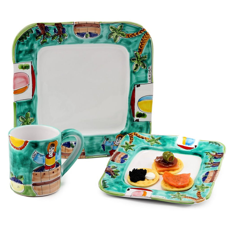 LA MUSA 3 Pcs Set include Dinner and Salad plates and Jumbo Mug (  sc 1 st  Artistica - Italian Gallery & Products Tagged