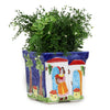 LA MUSA: Large Square Planter Sicilian Orange Harvest BLUE