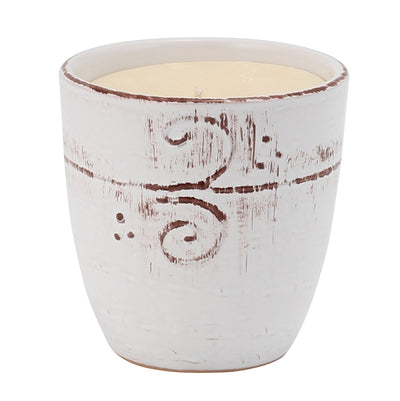MONDIAL CANDLES: Salvia SAGE Scented Candle -  Large Ceramic Candle with bass relief tree branches motif (12 Oz)