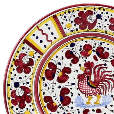ORVIETO RED ROOSTER: Salad Plate