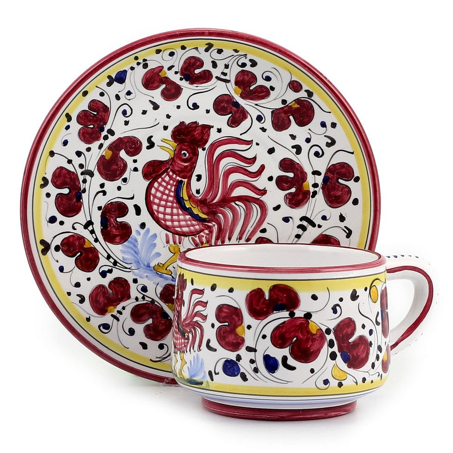ORVIETO RED ROOSTER: 5 Pieces Place Setting