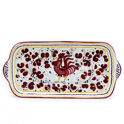 ORVIETO RED ROOSTER: Rectangular Tray