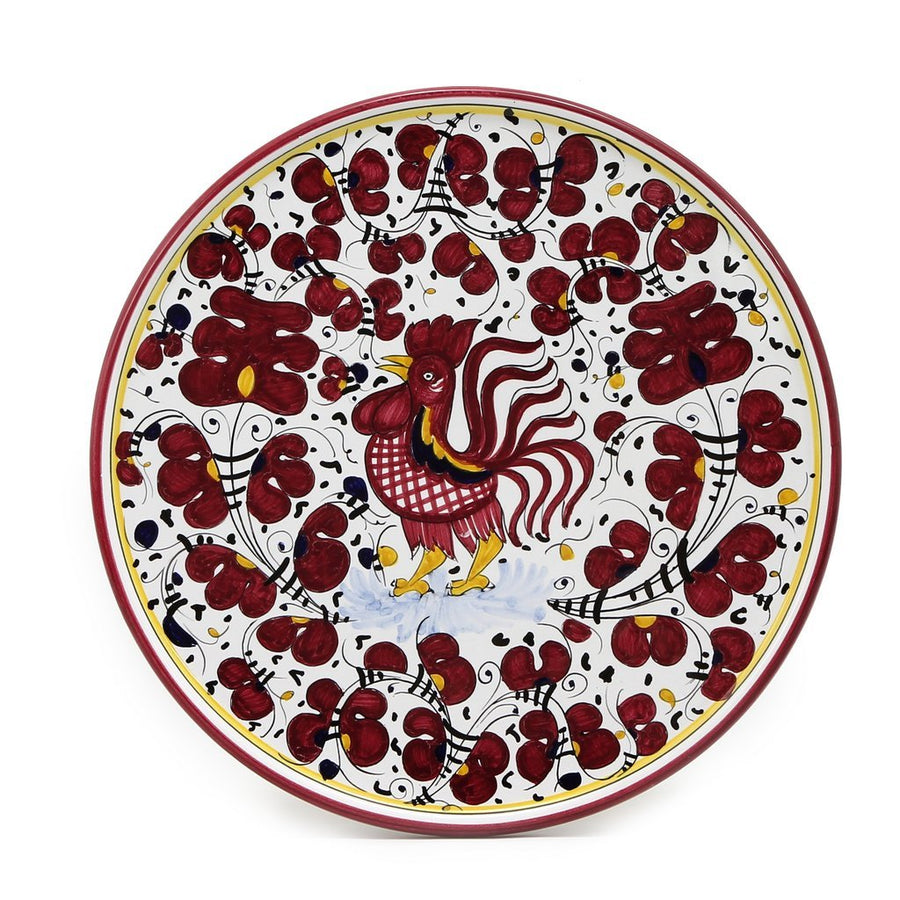 ORVIETO RED ROOSTER: Cake-Cheese-Pizza Platter