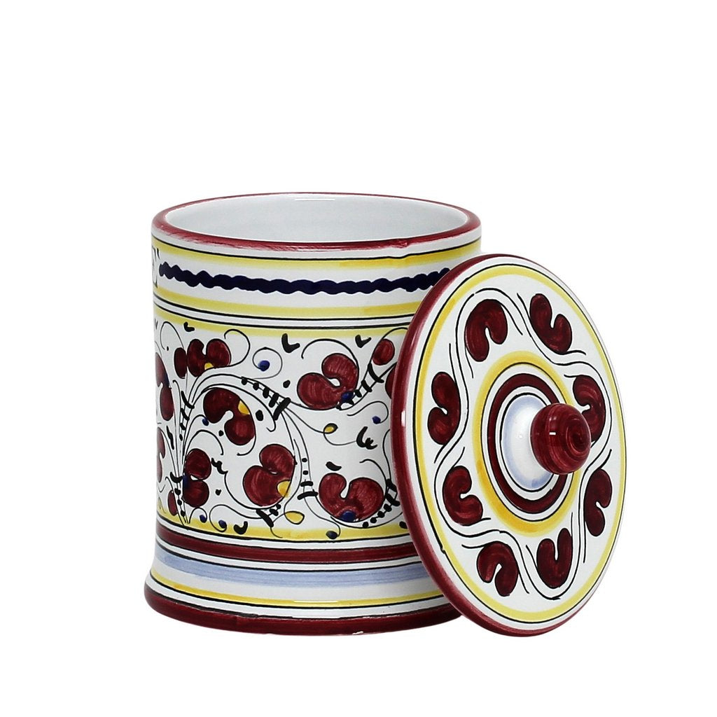 Orvieto Red Rooster Caffe Coffee Container Canister Artistica Com