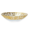 VIETRI: Rufolo Glass Gold Medium Oval Serving Bowl