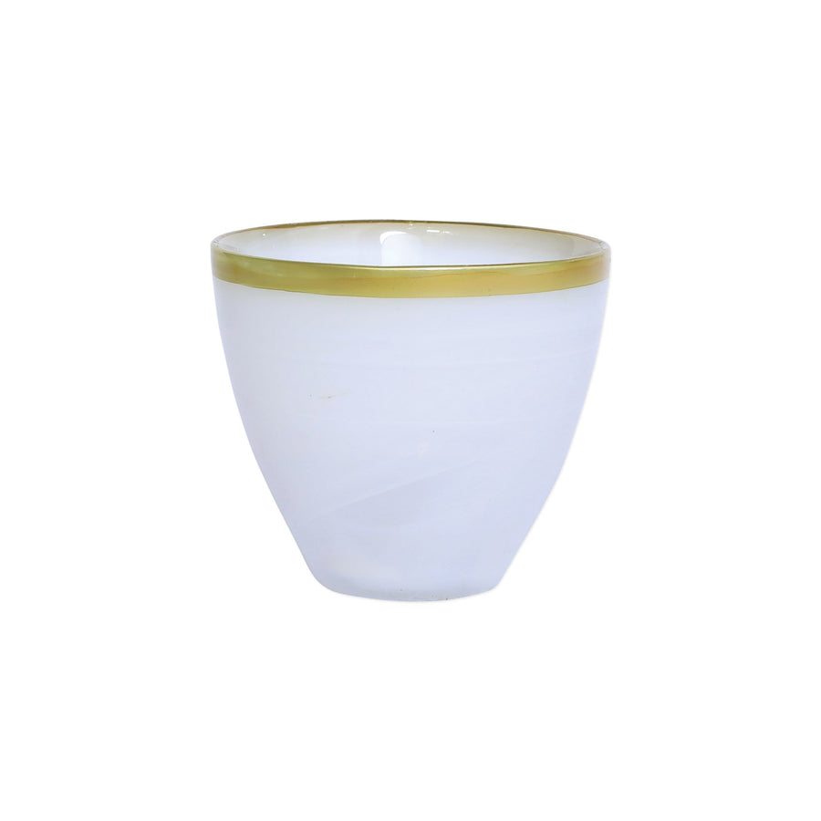 VIETRI: Rufolo Glass Gold Alabaster Votive