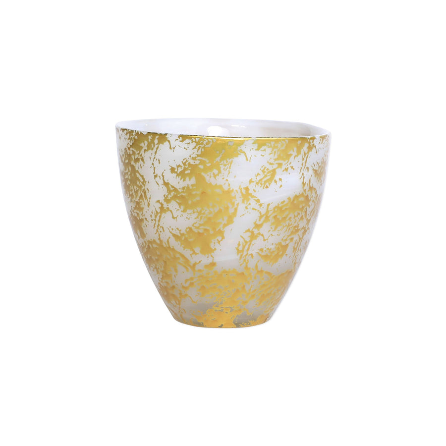 VIETRI: Rufolo Glass Gold Scattered Votive