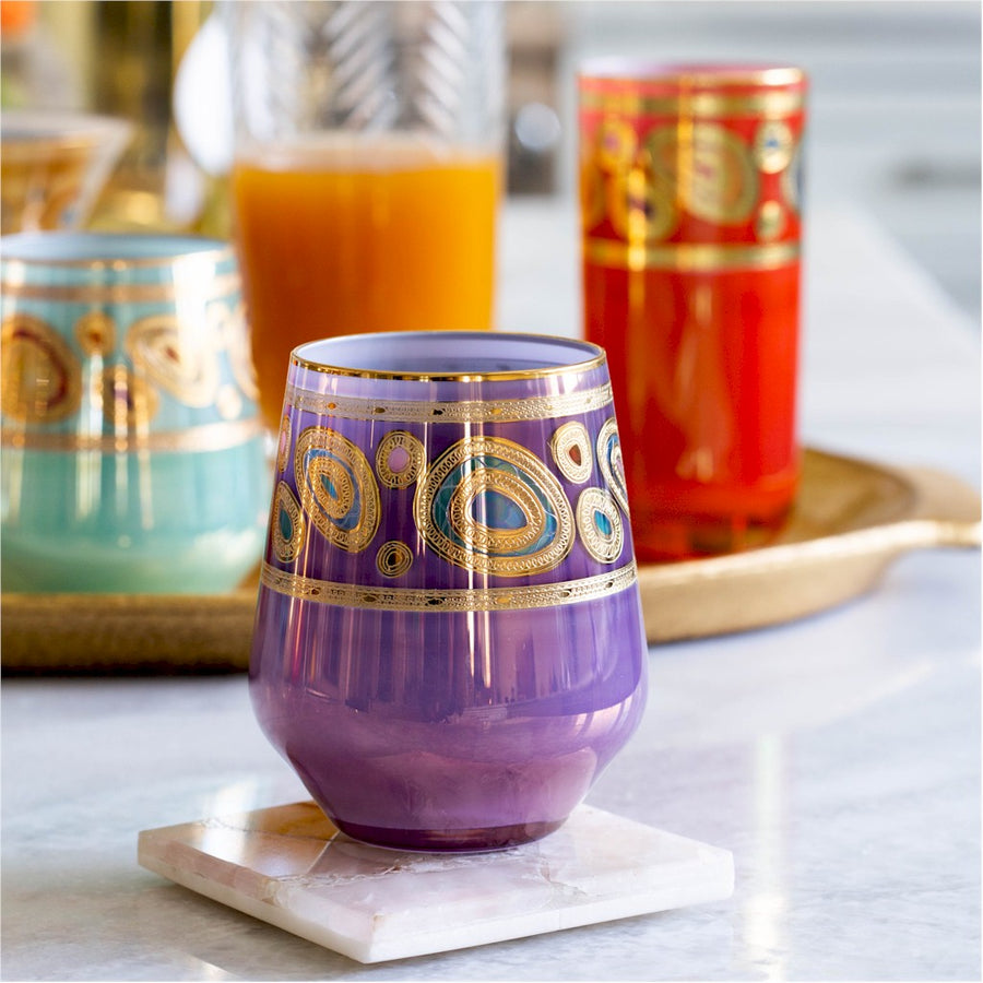 VIETRI: Regalia Orange Stemless Wine Glass