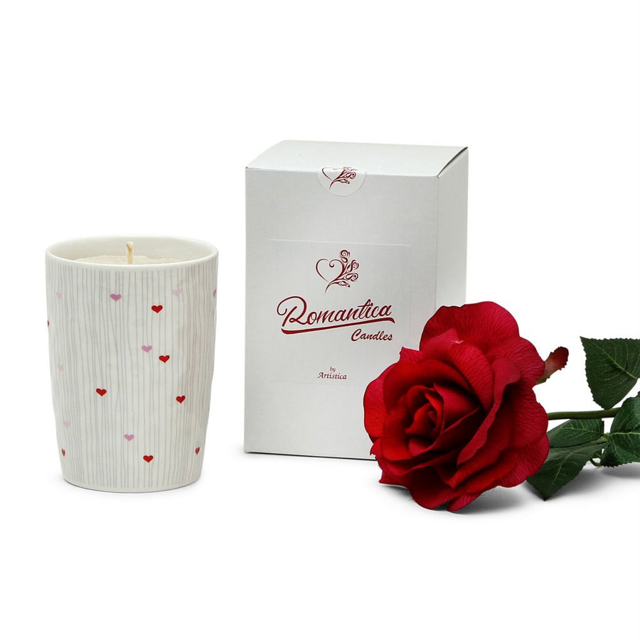 ROMANTICA: Valentine - Love Bug Candle Vase Ceramic Container (16 Oz)