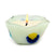 ITALIAN GLASS: Fused Glass Candle White-Clear