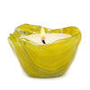 ITALIAN GLASS: Fused Glass Candle Yellow