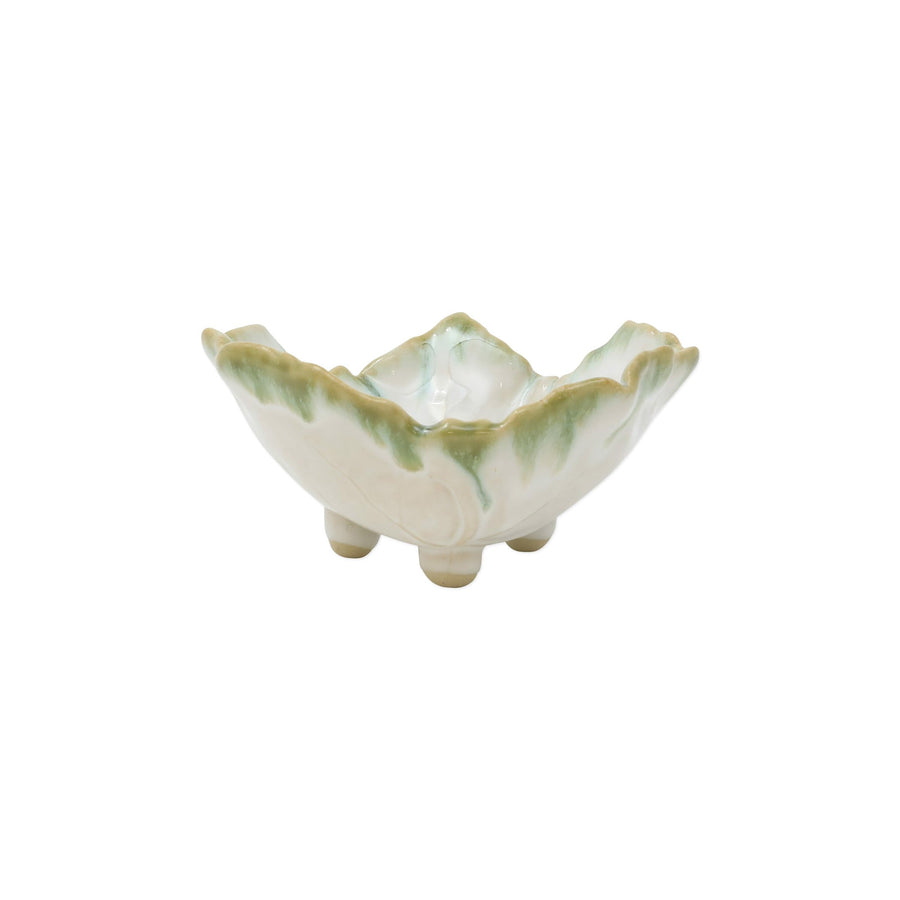VIETRI: Foglia Stone White Footed Berry Bowl